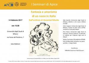 Centro Apice di Milano - 14 Febbraio 2017